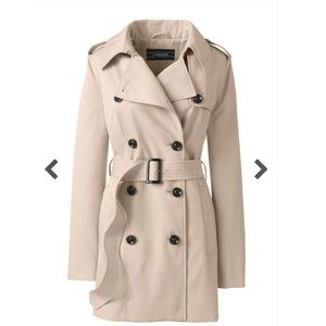 NEW WITH TAGS Land's End Trench Coat